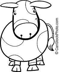 cute calf coloring pages | Newborn calf, black and white baby cow, on the white ...