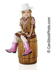 Little Cowgirl Sitting Pretty