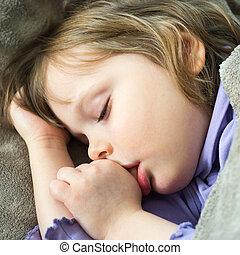 Little cute baby sleeping