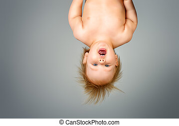 upside down - Little cute baby upside down. Childhood....