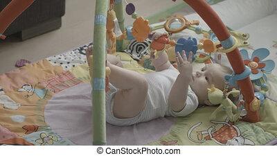 Little Cute Boy Playing