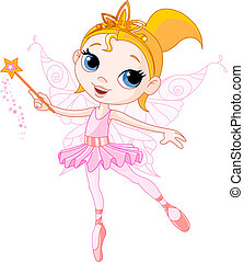 Cute fairy - Little Cute fairy ballerina with magic wand