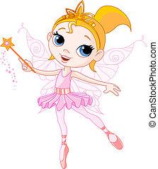 Cute fairy - Little Cute fairy ballerina with magic wand