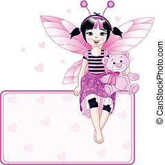 Little cute fairy place card
