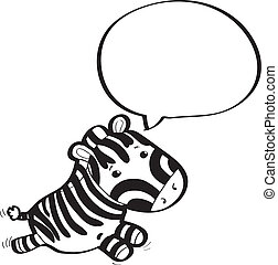 zebra with speech bubble