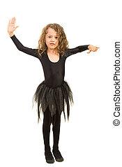 Little dancer girl exercising
