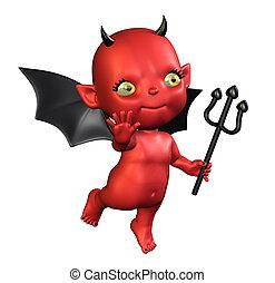 Little Devil - 3D render of a cartoon devil baby.