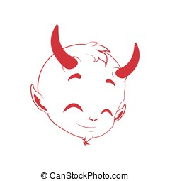 Little devil face decal