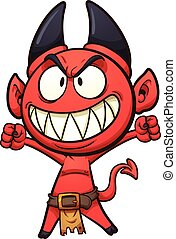 Little devil - Little cartoon devil. Vector clip art...