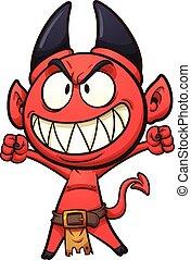 Little devil - Little cartoon devil. Vector clip art...