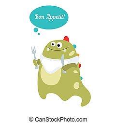 Bon Appetit message.