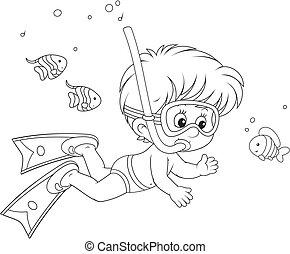 Little diver