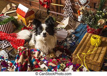 Little dog Christmas card