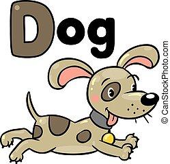 Little dog or puppy, for ABC. Alphabet D - Children vector ...