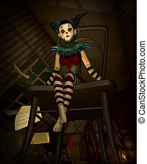 Little Doll in the Attic, 3d CG