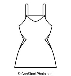 Little dress icon, outline style