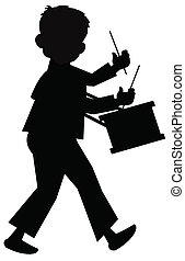 little drummer boy silhouette  - little drummer boy