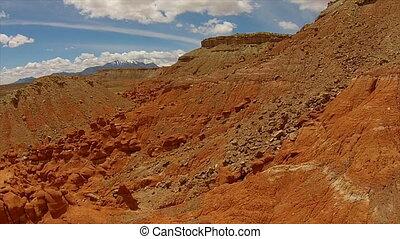 Little Egypt Geological Site Utah Henry Mountains Aerial