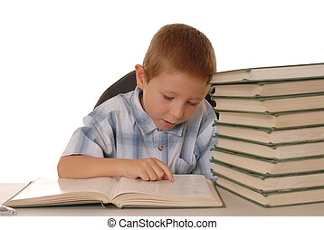 Little Einstein 17 - Young boy studying