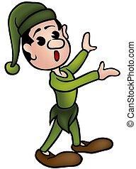 Little Elf 2 - colored cartoon illustration