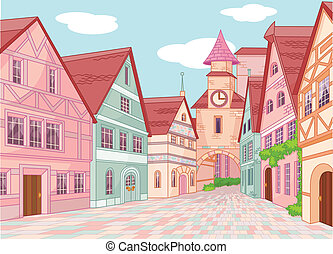 Little Europe town  - Little Europe town street