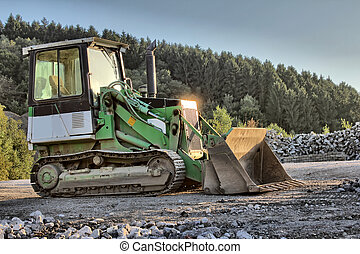 little excavator as hdr picture
