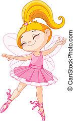 Little fairy ballerina - Illustration of a happy little...