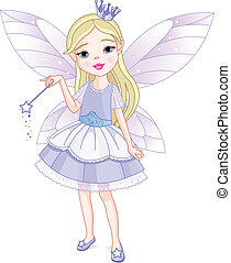 Little fairy - Cute little girl dressed up like fairy
