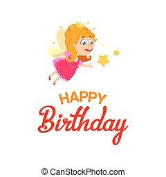 Little fairy for Happy Birthday