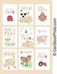 Farm Posters Set