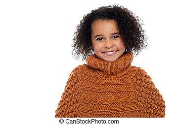 Little fashion girl portrait