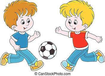 Little football players