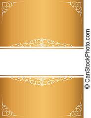Little frames over golden background
