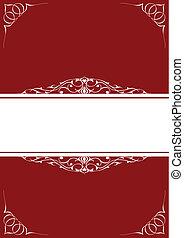 Little frames over red background