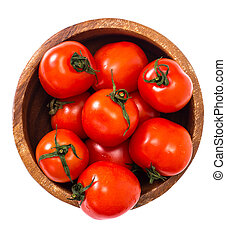 Little fresh tomatoes in a bowl