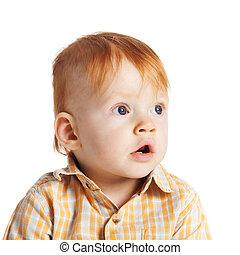 little funny boy portrait