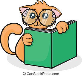 little funny cartoon cat