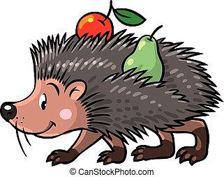 Little funny hedgehog