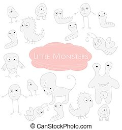 Little funny Monsters Doodle