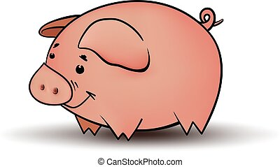Little Funny Pig - The symbol of the new 2019 is a pig....