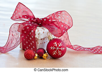 Little gift box with ribbon