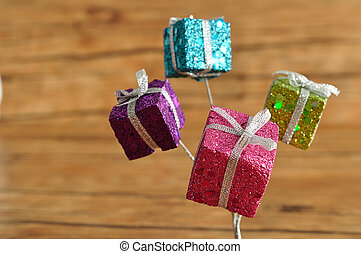Little gifts in shinny wrapping