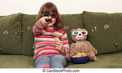 little girl and teddy-bear