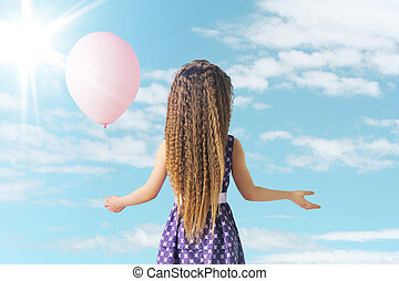 Little girl and the balloon