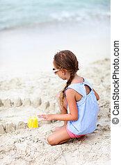 Little girl at beach