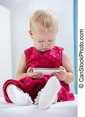 Little girl at medical office