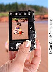 Little girl at PEI beach