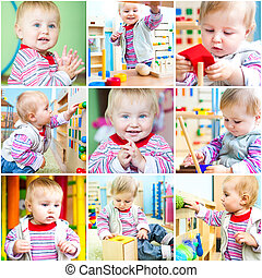 Little girl at school early development - Little 11-month-...
