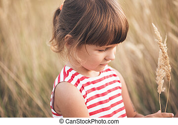 little girl at the outdoor