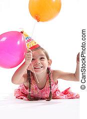 Little girl balloons